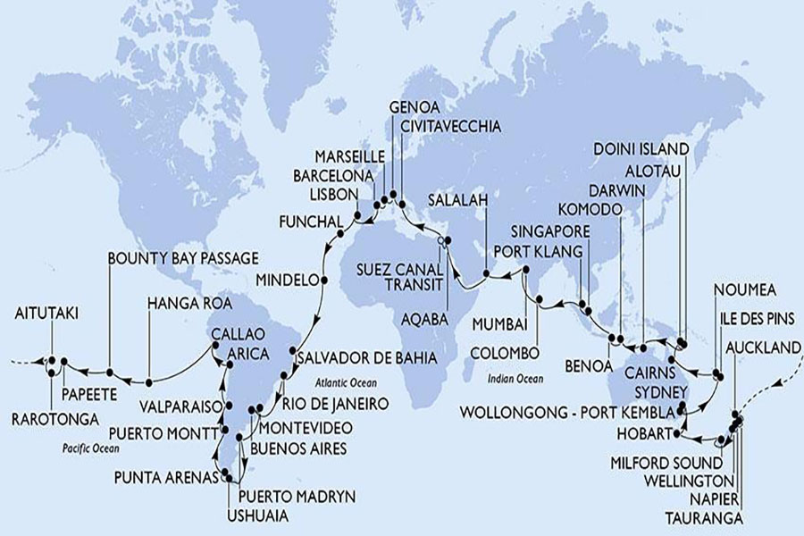 Cruise company launches route back to the world with 117 days ...